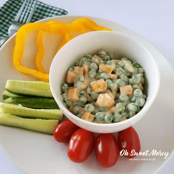 Easy Peasy Pea Salad | THM S, Low Carb