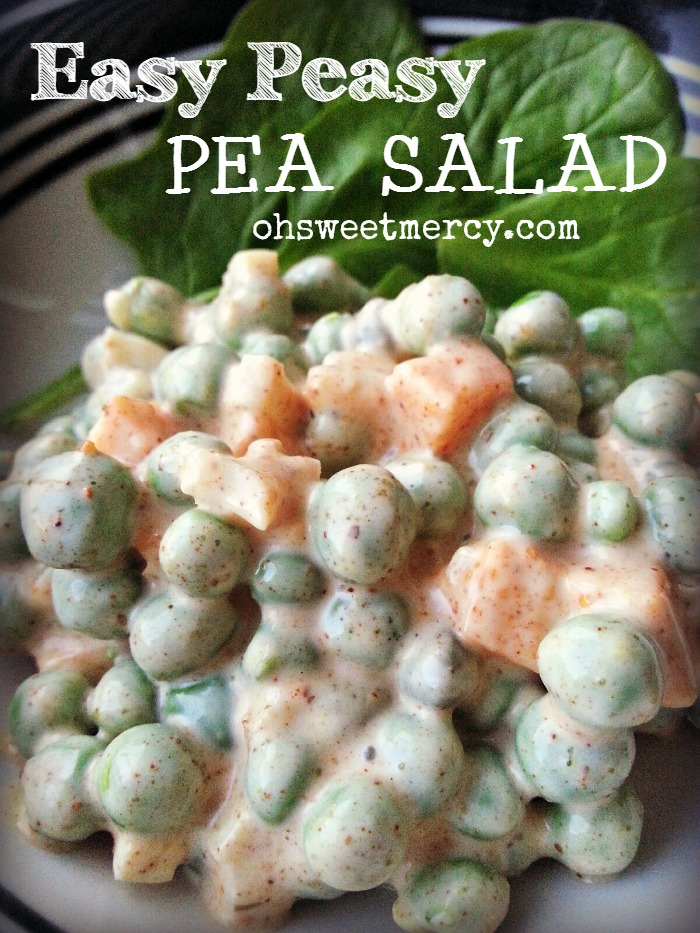 Easy Peasy Pea Salad | Oh Sweet Mercy #recipes #salads #THM #ohsweetmercy