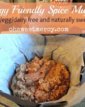 Allergy Friendly Spice Muffins – Gluten Free Egg Free Dairy Free
