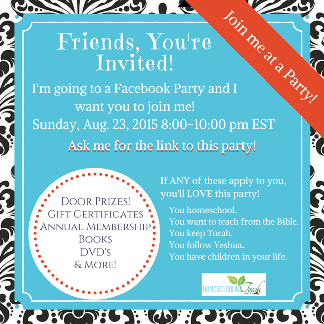 Homeschooling Torah is Celebrating Their 2 Year Anniversary with a Facebook Party! Come Join the Fun! | Oh Sweet Mercy #homeschooling #torah #giveaways