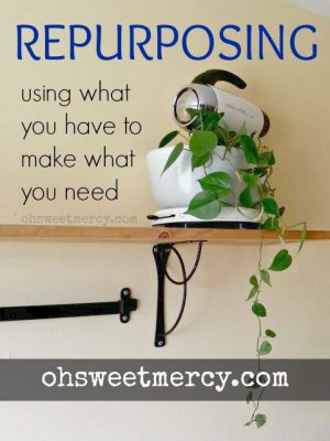 Repurposing – Using What You Have to Make What You Need