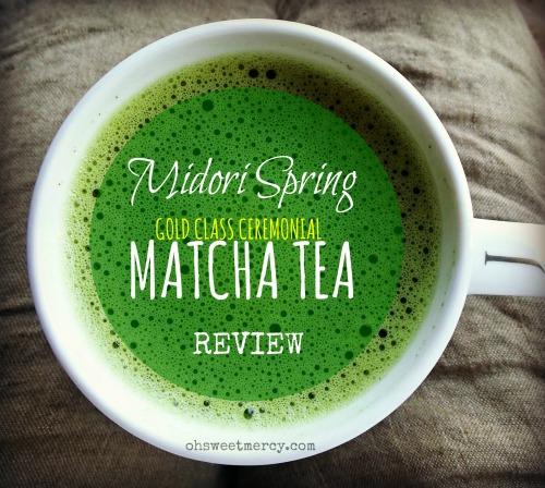Midori Spring Matcha Tea Review | Oh Sweet Mercy #reviews #midorispring #matcha #teas