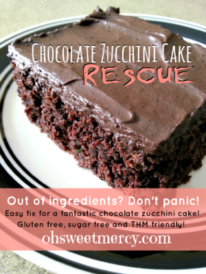 Chocolate Zucchini Cake Rescue