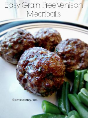 Easy Grain Free Venison Meatballs