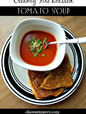 Creamy Fire Roasted Tomato Soup