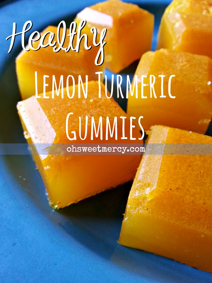 Healthy Lemon Turmeric Gummies | Oh Sweet Mercy #thm #easy #gelatin #recipes #healthy #ohsweetmercy