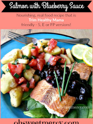 Salmon with Blueberry Sauce – Nourish Brain and Body