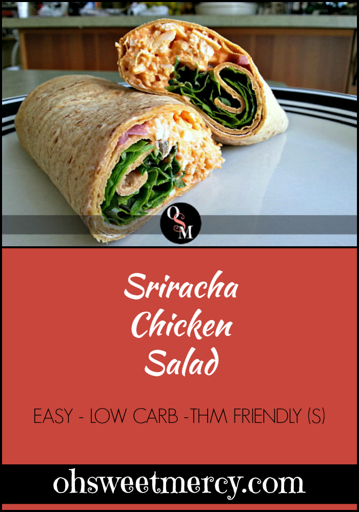 Sriracha Chicken Salad | Oh Sweet Mercy #recipes #easy #sriracha #chicken #thm #ohsweetmercy