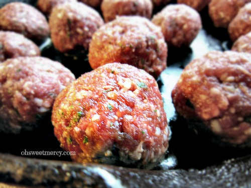 Easy Grain Free Venison Meatballs | Oh Sweet Mercy #easy #grainfree #thm #recipes #venison #ohsweetmercy