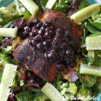 Salmon with Blueberry Sauce - Nourish Brain and Body
