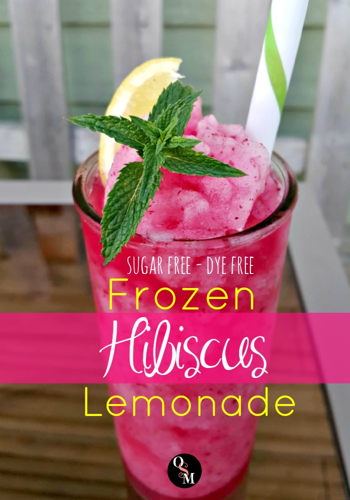 Frozen Hibiscus Lemonade | Oh Sweet Mercy #recipes #hibiscus #healthy #thm #ohsweetmercy