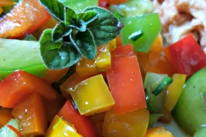 How to Make Easy Garden Fresh Pepper Salad | Oh Sweet Mercy #recipes #thm #peppers #ohsweetmercy