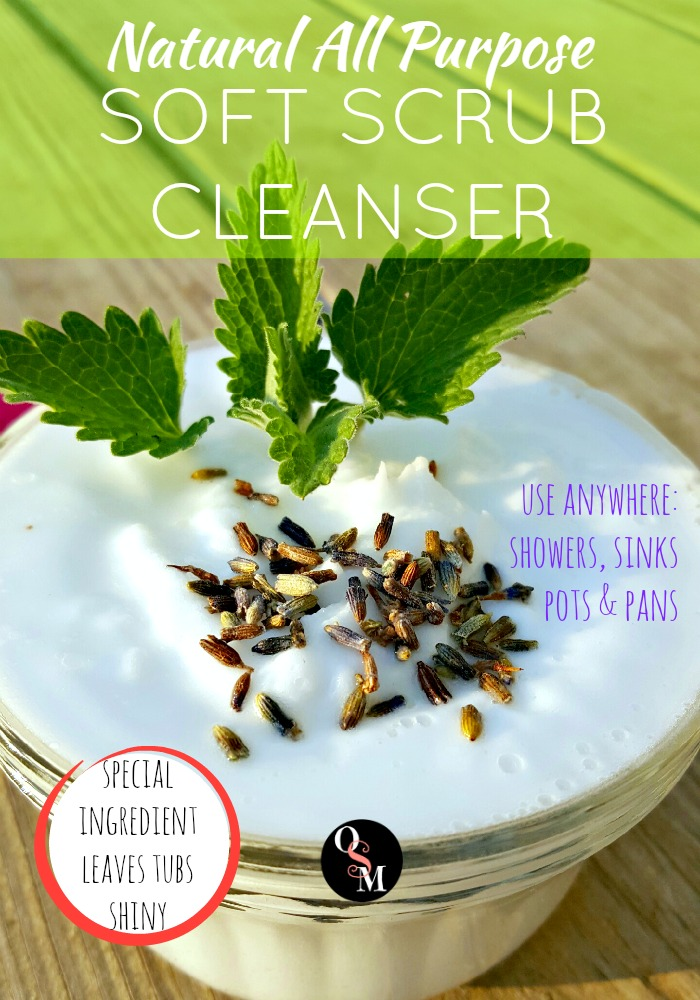 How to Make an All Purpose Soft Scrub Cleanser | Oh Sweet Mercy #easy #natural #frugal #diy #homemade #cleaners #ohsweetmercy