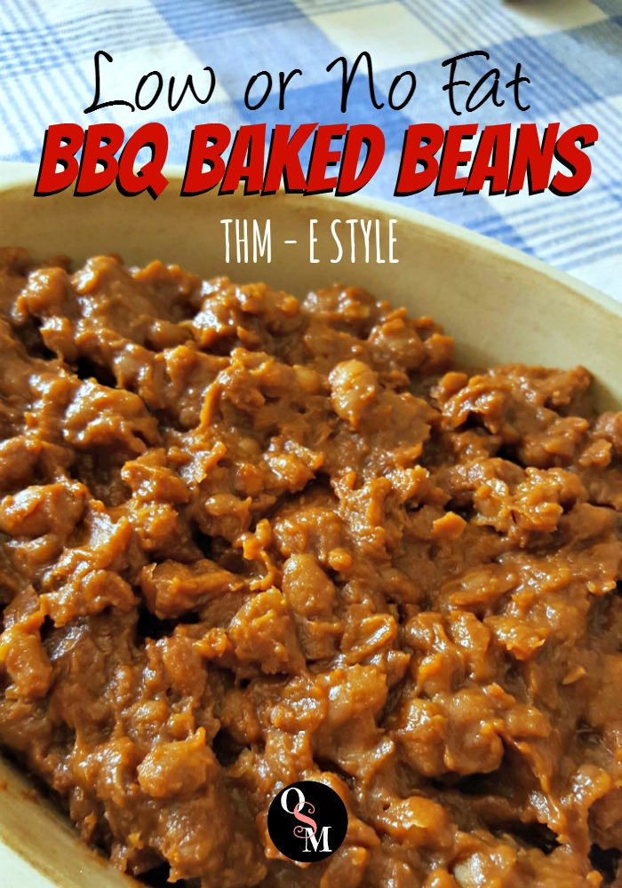 BBQ Baked Beans - Low or No Fat | Oh Sweet Mercy #thm #lowfat #recipes #ohsweetmercy