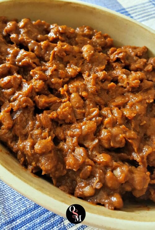 Low or No Fat BBQ Baked Beans - Oh Sweet Mercy