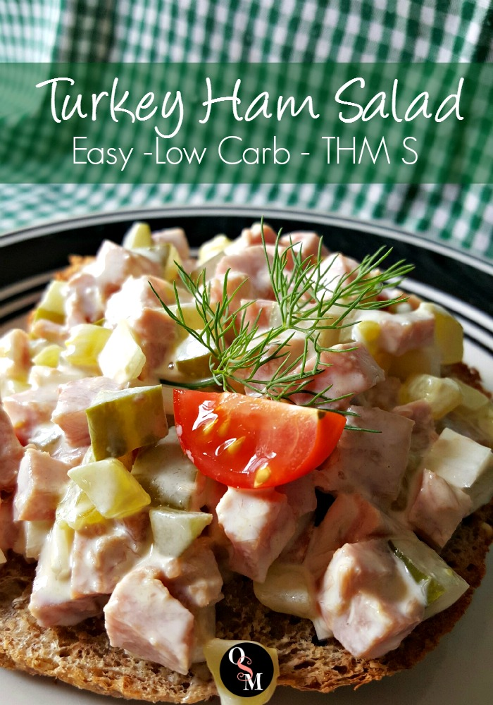 This easy Turkey Ham Salad is a quick THM S meal option. #easy #thm #recipes