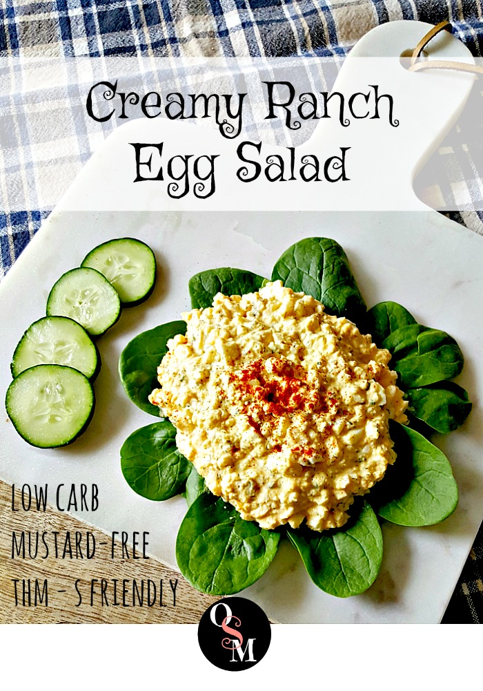 Creamy Ranch Egg Salad | Oh Sweet Mercy #lowcarb #thm #instantpot #egg #recipes #ohsweetmercy