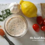 Creamy Cajun Ranch Dressing or Dip(Low Fat & Probiotic)