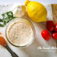 Creamy Cajun Ranch Dressing (Low Fat & Probiotic)