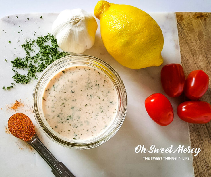 Creamy Cajun Ranch Dressing (Low Fat & Probiotic)