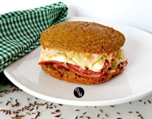 This Low Carb Mock Rye Bread is #glutenfree #grainfree and #trimhealthymama friendly.