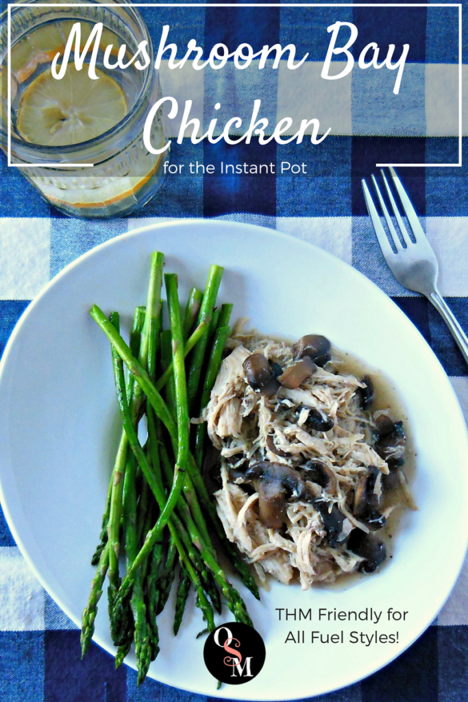 Quick, simple, and flavorful! This easy Instant Pot chicken recipe works with any Trim Healthy Mama fuel type, too. #lowcarb #thm #chicken #instantpot #recipes