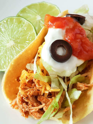 Easy 30 Minute Chicken Tacos for the Instant Pot - Oh Sweet Mercy