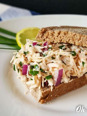 Easy 4 Ingredient Lemon and Chive Chicken Salad