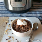 Chocolate Java Instant Pot Oatmeal (Low Fat, Dairy Free & THM Friendly)