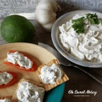 Yogurt Cheese with Cilantro, Garlic, and Lime | THM S, Keto, Low Carb