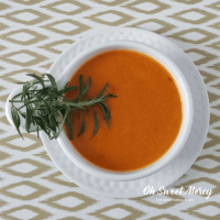 Garlic and Rosemary Tomato Soup | THM S, Keto, Low Carb