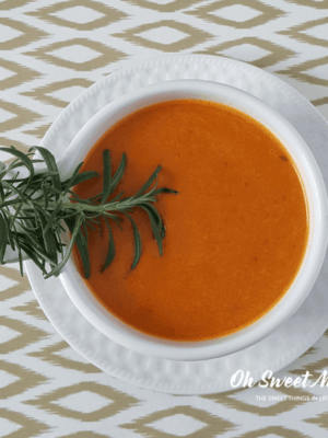 My Nourishing Instant Pot Garlic and Rosemary Tomato Soup is so simple to make. It's a soul-warming delight! #instantpot #souprecipes #nourishing