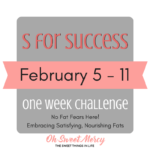 S for Success Challenge - Get Over Your Fat Fears