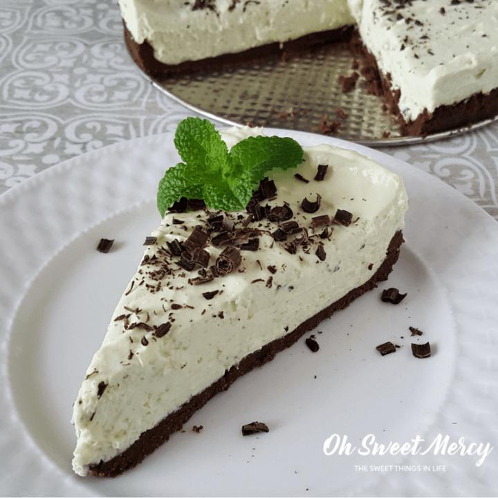 Minty Matcha No Bake Cheesecake |THM S, Keto, Low Carb