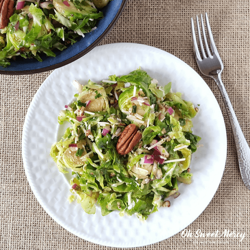 This easy Balsamic Brussels Sprouts Salad is a delicious low carb way to get those sprouts on the table in a hurry. #lowcarb #keto #thm friendly