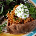 Chicken Taco Stuffed Sweet Potatoes {Low Fat, Healthy Carbs}