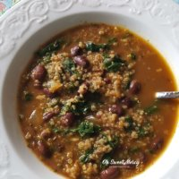 Red Bean, Quinoa, and Kale Soup