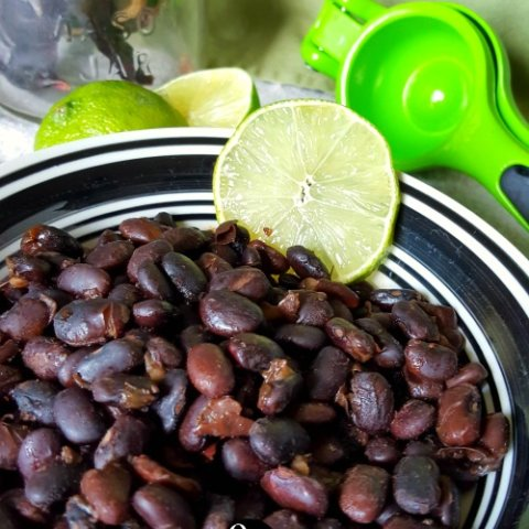 Chili Lime Black Beans | THM E, Low Fat