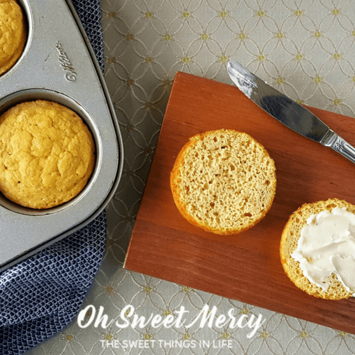 Garlic Biscuits in a Mug (or Muffin Pan)