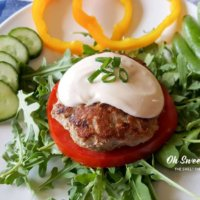 Garlic Zucchini Turkey Burgers with Creamy Dijon Sauce