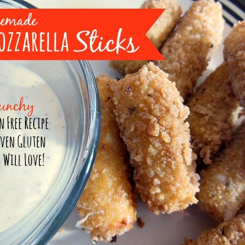 Homemade Mozzarella Cheese Sticks (NOT THM)