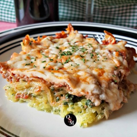Italian Spinach Baked Spaghetti Squash | THM S or FP