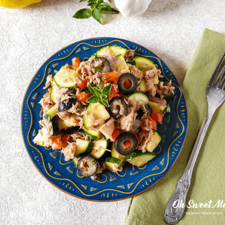 Real Food Mediterranean Tuna Zucchini Salad