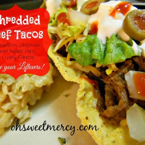 Shredded Beef Tacos | THM S, Low Carb