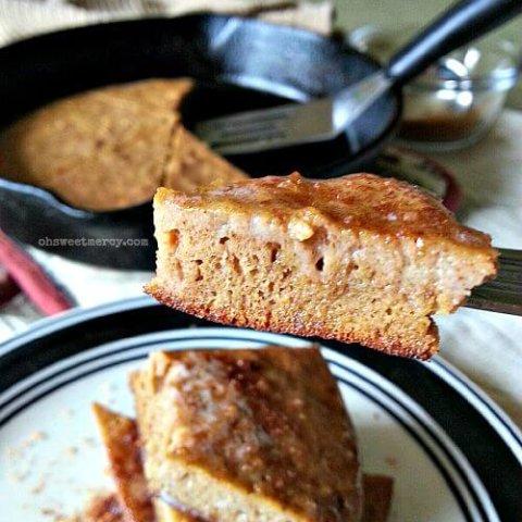 Spiced Coconut Flour Skillet Cake   THM S, Low Carb, Keto