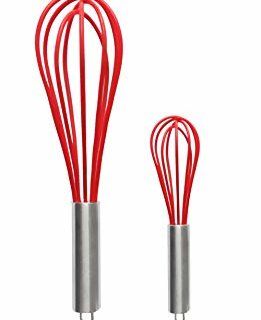 Ouddy 2 Pack Silicone Whisk, Balloon Whisk Set