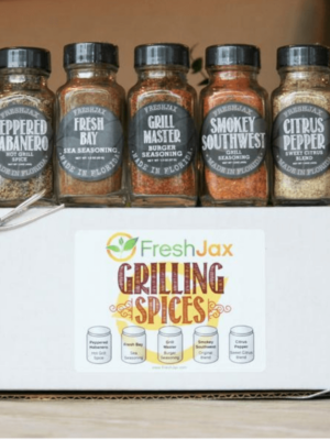 November Birthday Bash Giveaway #2 - FreshJax Spices Grilling Spices Gift Set! Spice up your meals with these handcrafted organic spices made with real food, nothing artificial! #giveaway #thm #spices #seasonings