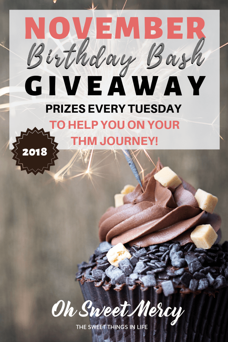November Birthday Bash Giveaway #1 - TJ's Taste Printables #giveaway #printables #THM #trimhealthymama
