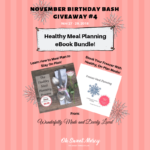 November Birthday Bash Tuesday! Meal Planning eBooks!
