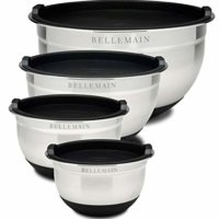 Bellemain Stainless Steel Non-Slip Mixing Bowls with Lids